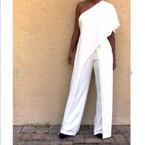 Sultry one shoulder jumpsuit